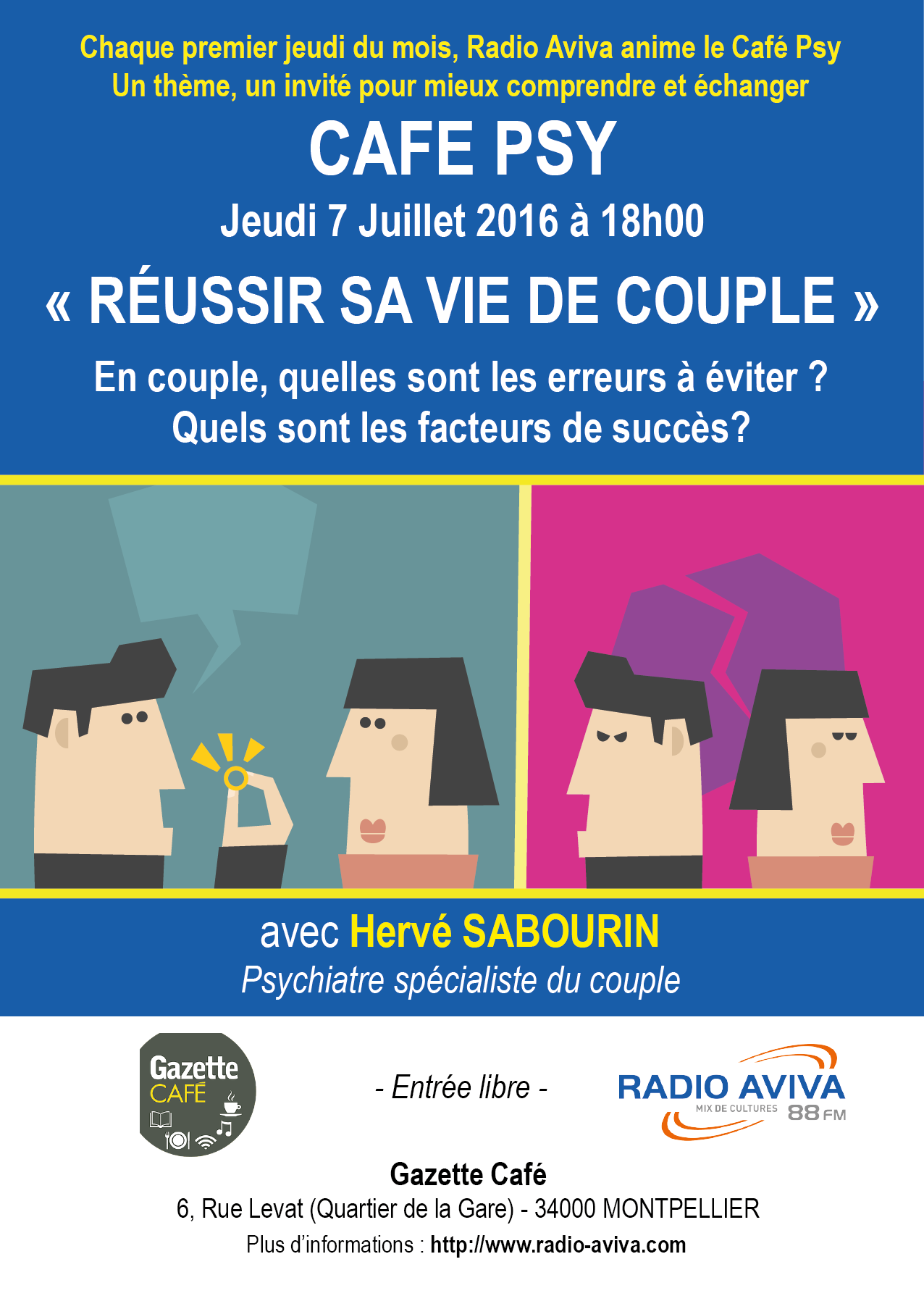 comment reussir sa vie de couple r ponse dans caf psy jeudi 7 juillet 18h00 radio aviva. Black Bedroom Furniture Sets. Home Design Ideas